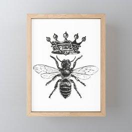 Queen Bee   Black and White Framed Mini Art Print