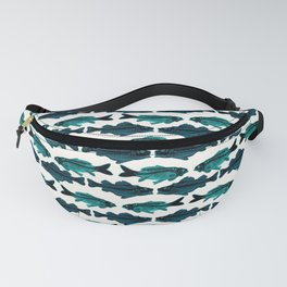 Fish (blue on white) Fanny Pack