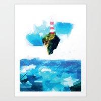 gorillaz Art Prints featuring Lighthouse by Vadim Cherniy
