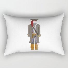 Caribbean Captain/Pirate Outfit Minimal Sticker Rectangular Pillow