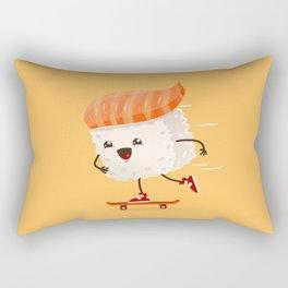Kawaii sushi skateboarding Rectangular Pillow