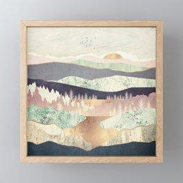 Golden Spring Reflection Framed Mini Art Print