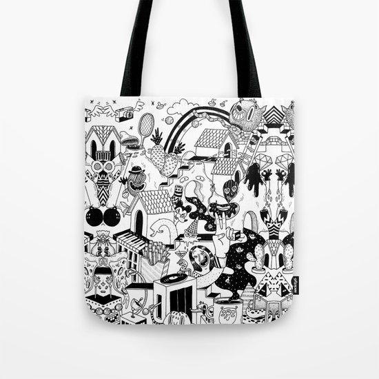 DOODLE WORLD Tote Bag