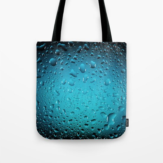 Stylish Cool Blue water drops Tote Bag