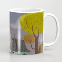 house Mugs featuring House by Fran Court