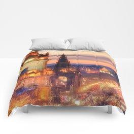 CLOCK TOWER-EDINBURGH Comforters
