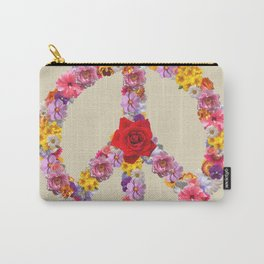 Peace Flower Sign Carry-All Pouch