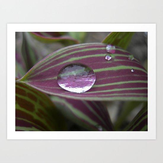 big water drop IV Art Print