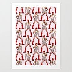 David Bowie Choreography Art Print