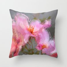 Oriental bloom Throw Pillow