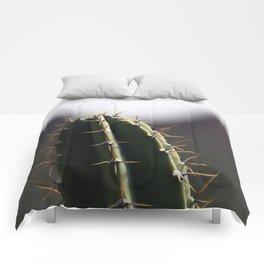 Peruvian Apple Cactus Depth of Field Comforters