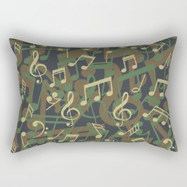 Music Note Camo WOODLAND Rectangular Pillow