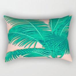 Palm trees on pink Rectangular Pillow