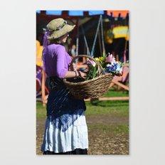 Flower Lady - Purple Canvas Print
