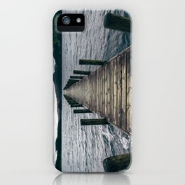Wooden jetty on Coniston Water. Cumbria, UK. iPhone Case