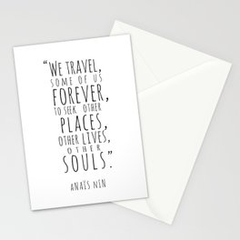 We Travel Forever Stationery Cards