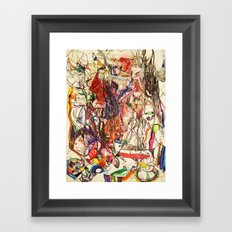 Smoke & Feng Shui Framed Art Print