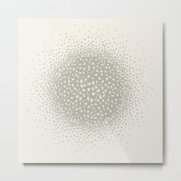 butterflies flying in a circle scatter in different directions. pastel Metal Print