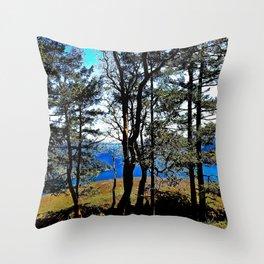 Trees, Daylight Stoney Hill Throw Pillow