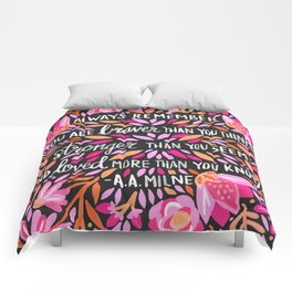 Always Remember – Pink & Charcoal Palette Comforters