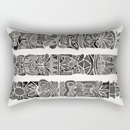 Tiki Totems – Black Rectangular Pillow