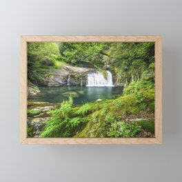 A magic lake deep in the woods Framed Mini Art Print