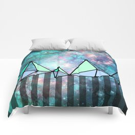 intergalactic mountains (collab) Comforters