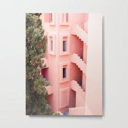 Muralla Roja photography print   abstract travel art   escher like building architecture photo Metal Print