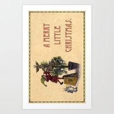 A Merry Little Christmas! Art Print