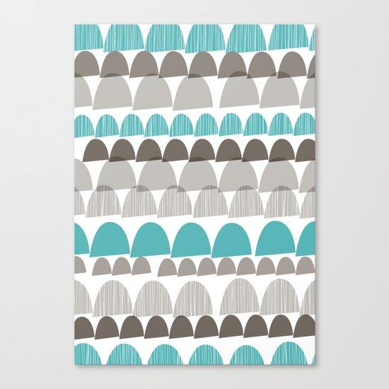 Shroom aqua Canvas Print