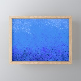 Blue Gradient Framed Mini Art Print