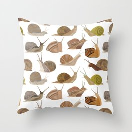Snails Throw Pillow