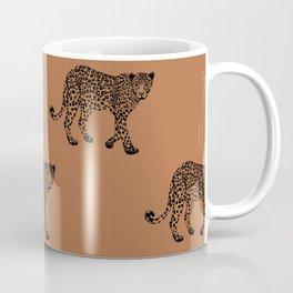 Leopard pattern - terracotta Coffee Mug