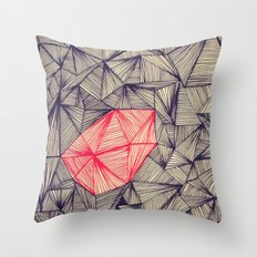 Lines On Lines Throw Pillow