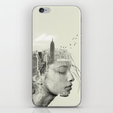 New York City reflection iPhone & iPod Skin