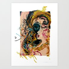 danae and shower of gold Art Print
