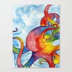 Rainbow Octopus Canvas Print