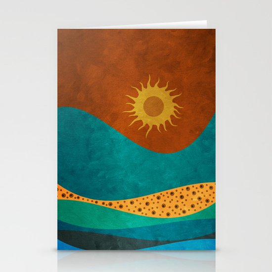 color under the sun (II) Stationery Cards