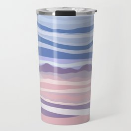 Mountain Scape // Abstract Desert Landscape Red Rock Canyon Sky Clouds Artistic Brush Strokes Travel Mug