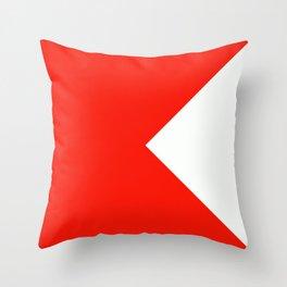 Semaphore B Throw Pillow