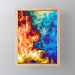 Fire and Ice Steam Framed Mini Art Print