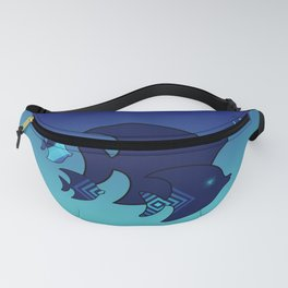 Nine Blue Fish with Patterns Fanny Pack