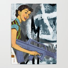 Housewife Goes Crazy Funny Tee Poster