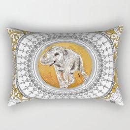 golden elephant Rectangular Pillow