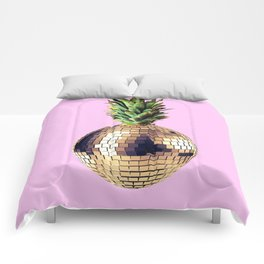 Ananas party (pineapple) Pink version Comforters