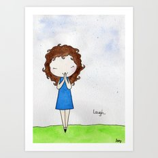 Laugh 2 Art Print