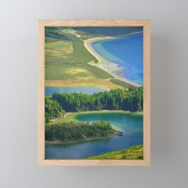 Colorful lake Framed Mini Art Print