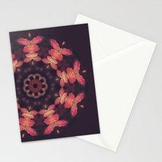 Purple and Orange Nature Mandala Stationery Cards