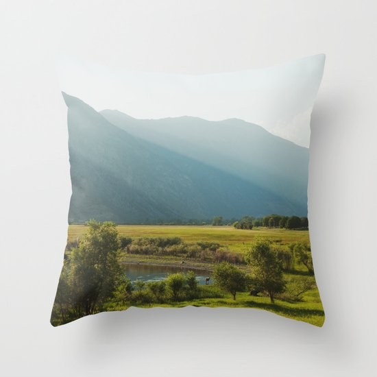 Wading Deer Throw Pillow