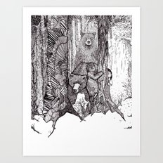 A Grizzly Story Art Print